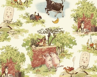 Whistler Studio Cat and the Fiddle Fabric -  Windham  51093-X - Priced by the Half Yard