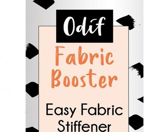 Fabric Booster from Odif - Fabric Stiffener - Spray on Stabilizer - Embroidery, Applique, Sewing -  7-ounce bottle Non-Aerosol