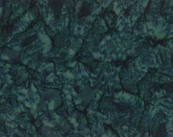 Solid Batik Fabric - Wilmington Rock Candy Batik - Washed Solid -  2678 779 Dark Teal - Priced by the half yard