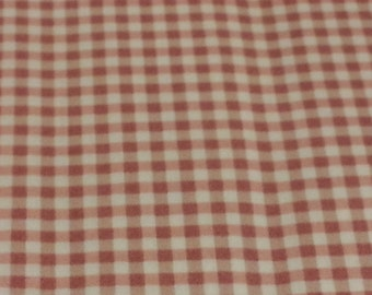 Gingham Check - My Secret Garden, -  Marti Michell and Maywood Studios MAS610-P Dusty Pink- Priced by the 1/2 yard