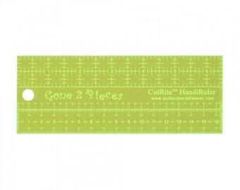 Handi Ruler Quilting ruler, Metric Ruler - CutRite, Gone 2 Pieces - Acrylic -  2.5 x 6.5 Inches, 6.5 cmx 16.25cm