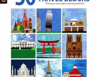 50 Any-Size Travel Quilt Blocks by Rita Weiss and Linda Causee -  Softcover with Bonus CD # LA6350
