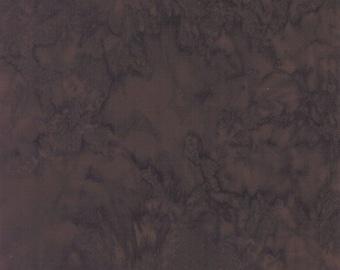Hoffman Bali Batik - Hoffman Fabrics - 1895 610 Cappuccino - Dark redwood brown  - Priced by the Half Yard