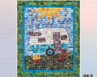 Trailer Mosaic - Vintage Trailer - Mini Mosaic Quilts From Oy Vey Quilt Designs By Cheryl Lynch - MM394 - DIY Pattern