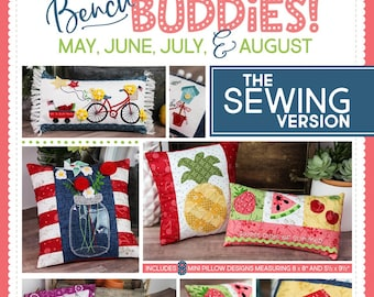 Kimberbell - Sewing Version - Bench Buddies - Summer - May June July August - Pattern & Instructions - DIY