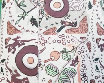 Australian Fabric - Running Possum Vine Gray - Aboriginal Fabric - by Nambooka - Priced by the half yard