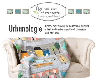 Urbanologie Quilt Sampler Pattern featuring Quick Curve Mini Ruler - Sew Kind of Wonderful By Jenny Pedigo # SKW 419 - Pattern Only