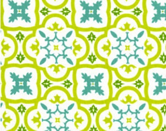 Andalucia Moorish Tile Fabric - Andalucia by Patty Young  for Michael Miller DC3896 WHIT D - Priced by the 1/2 yard