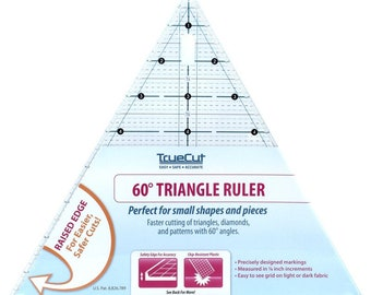 Triangle Ruler - 60-degree Ruler - True Cut Raised Edge - Grace Company 17139