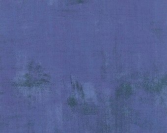 Purple Textured Fabric - Perwinkle Grunge by BasicGrey for Moda Fabrics 30150 293 Periwinkle - Priced by the 1/2 yard