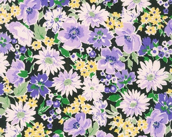 Summer Floral - Sevenberry Flora Collection - Purple Floral - Kaufman - 6173 D2 4 Purple - Priced by the 1/2 yard