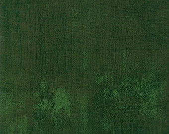 Grunge Fabric - BasicGrey for Moda Fabrics Winter Village - 30150 429 Winter Spruce - dark green - priced by the half yard