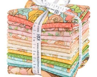 Rose Garden Fabric - The Flowers Alphonse Mucha 1898 - Kaufman Fabrics - SRKD-11426-16 NATURE GARDEN - Fat Quarter Bundle