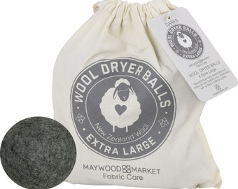 Wool Dryer Balls - Dark Color - New Zealand Wool - 4 Balls per Bag