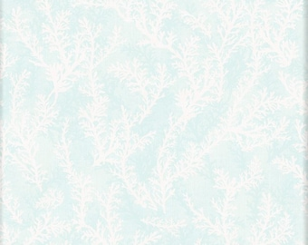 Coastal Wishes - Coral  Nautical - By Susan Winget for Wilmington Prints - 39623 411 Faded Aqua - Priced by the half yard
