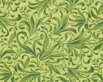 Tendril Fabric, Pea Plant, Vine Fabric - Novelty Vines Fresh Picked - Sentimental Studios - Moda 32835 13 Lt Green - Priced by the 1/2 yard