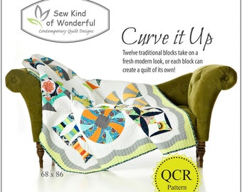 Curve It UP Pattern featuring Quick Curve Ruler - Sew Kind of Wonderful By Jenny Pedigo # SKW408