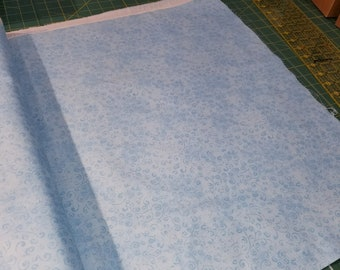 Light Blue swirly Fabric - Quilting Treasures QT Temptations - 22542 BZ - Tone on Tone - Priced by the 1/2 yard