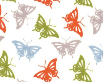 Butterfly Fabric - Serenade Butterflies by Kate Spain for Moda Fabrics 27114 15 Autumn - Priced by the 1/2 yard