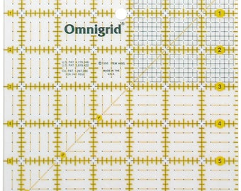 Omnigrid Square Ruler - OMNR65G Acrylic 6.5 inch square