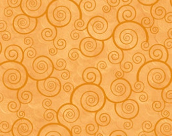 Harmony Blender Fabric - Curly Scroll by Quilting Treasures 24778 SA Honey - Priced by the 1/2 yard