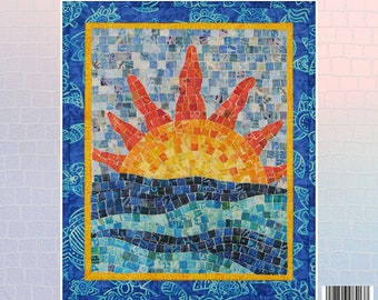Key West Sunset Mosaic - Mini Mosaic Quilts From Oy Vey Quilt Designs By Cheryl Lynch - MM413 - DIY Pattern