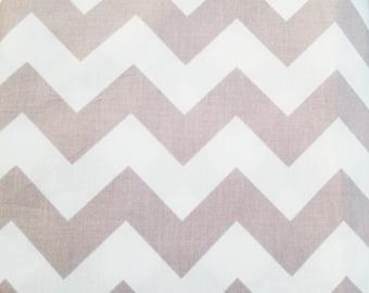Chevron Fabric - Gray Taupe  Medium Chevron Fabric by Riley Blake Designs C320 40 Taupe Gray - Priced by the 1/2 yard