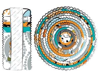 Flintstones Fabric - Yabba Dabba Do - Hanna Barbera Licensed Camelot Fabric - Jelly Roll (40 2.5 inch strips)