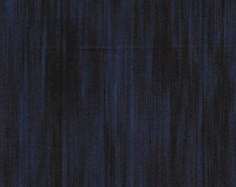 Fleurish Fabric - Striated Line Fabric by KANVAS Studio - 5619 55 navy Blue - Priced by the 1/2 yard