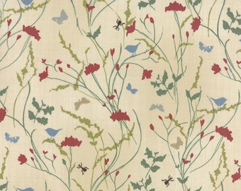 Field Guide Fabric -  Nature Meadow Natural by Janet Clare for Moda Fabrics 1363 11 Spring -Tan - Priced by the 1/2 yard