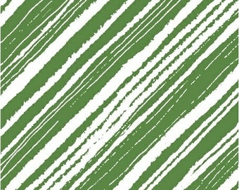 Make Merry Christmas Cat - Diagonal Accent Stripe - Maria Carluccio for Windham  51155-2 Green - Priced by the Half Yard