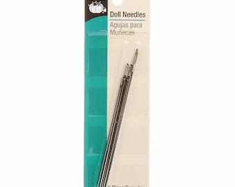 Doll Needles - 3 size (3-inch to 4-inch) - qty 5 in pack #157 - Prym Dritz