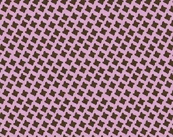 Closeout - Basket Weave Fabric - Chelsea by Whistler Studios for Windham Fabrics 32548 3 Brown Mauve - Sold by the yard
