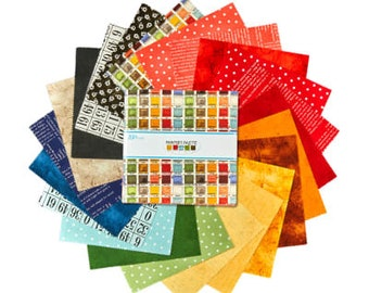 Painters Palette by Janet Wecker Frisch - Fabric Bundle - Riley Blake C8940 - 10-Inch Stacker - Layer Cake