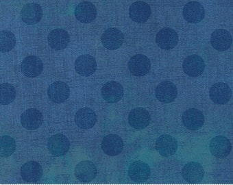 Grunge Hits the Spot - BasicGrey for Moda Fabrics 30149 56 Dark Sea Blue - Priced by the 1/2 yard