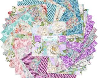 Wild Blush Fabric - 10 Karat Fabric Squares - Danhui Nai - Wilmington Fabrics - 518 604 518 - 42-pieces per 10-inch stack