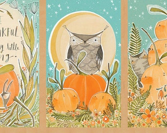 Autumn Panel - Blend Fabrics - Fall Goodness by Cori Dantini - 112.119.01.1 Autumn Bazaar Panel Multi- Priced by the 24-Inch Panel