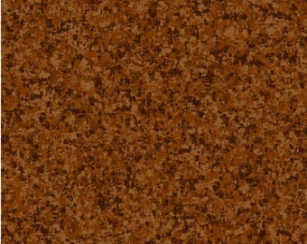 Warm Brown Solid Textured Fabric - Quilting Treasures QT Basics Color Blend - 23528 AJ - Priced by the  1/2 yard