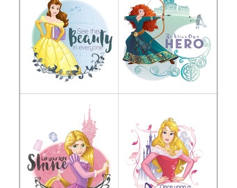 Disney Princess Power - Be Your Own Hero - See The Beauty - Heart Strong  - Disney Fabric  - Camelot 85100401JP  36-Inch Panel
