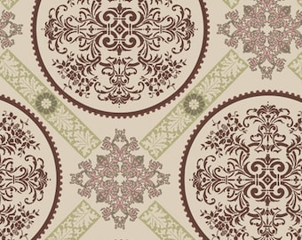Closeout - Dashing Roses Brilliant Medallions Fabric by Pat Bravo for Art Gallery Fabrics DR 302 - Skinny bolt 2 yards