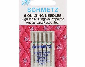 Schmetz Needles 75/11 Quilting Needles - 5 pack