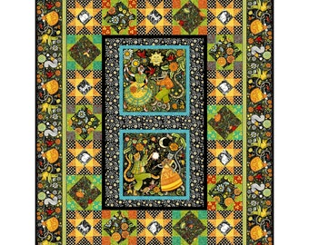 "Hey Diddle Diddle Cat Quilt - In The Beginning Julie Paschkis - Fabric & Pattern - DIY - Finishes 68""x88"""