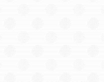 Simply Neutral Fabric - White on White - Circle Blender - Northcott  22136 10 White - Priced by the 1/2 yard