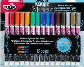 Fabric Markers, Opaque Markers, Permanent Markers, Fabric Accent - 15 count, 337010