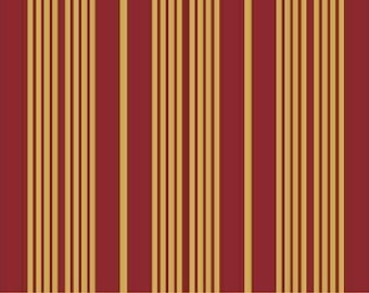 Striped Fabric - Katherine by Nancy Gere for Windham Fabrics 32735 1 Burgundy/Gold - Priced by the 1/2 yard