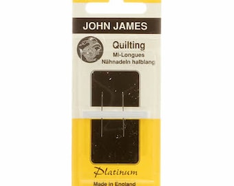 Quilting Needles Platinum Plated - In-Betweens - Hand Quilting Needle - John James - Size 11 - Per pack (2) needles