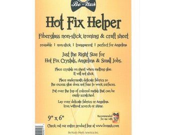 Bo-Nash Hot Fix Helper -  Iron & Craft Sheet - Fiberglass - 9x6 inch Reusable sheet BN1006
