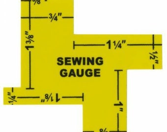 14-in-1 Measuring Gauge - sewing gauge - Sew Mate or Collins C139 - Aluminum Double Sided