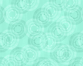 Keep Shining Bright - Tone on Tone Circle - By Anne Rowan for Wilmington Prints -  68514 777 Teal - Priced by the Half Yard