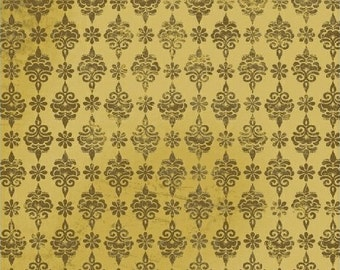 Medallion Fabric - Urban Cosmos Brown Small Medallion by Prima for Windham Fabrics 33329 2 Brown - Priced by the half yard